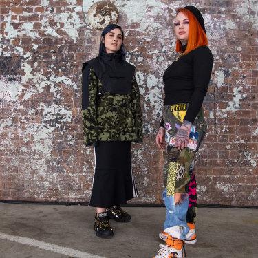 Jana Bartolo and Lauren Windsor at Mercedes-Benz Fashion Week.