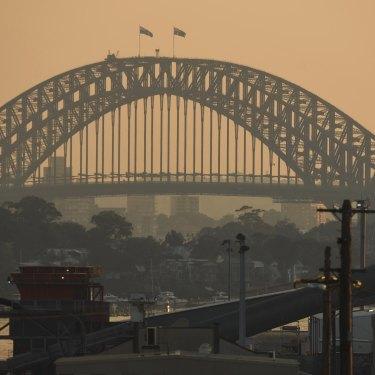 Smoke haze lingers over Sydney amid the state's bushfire emergency.