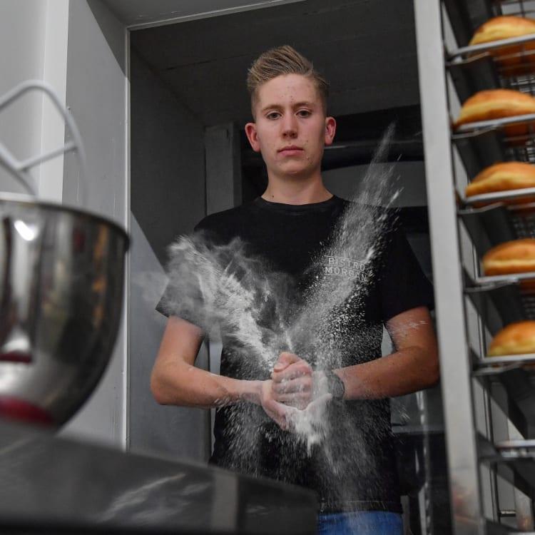 Morgan Hipworth, 17, runs his own doughnut shop.