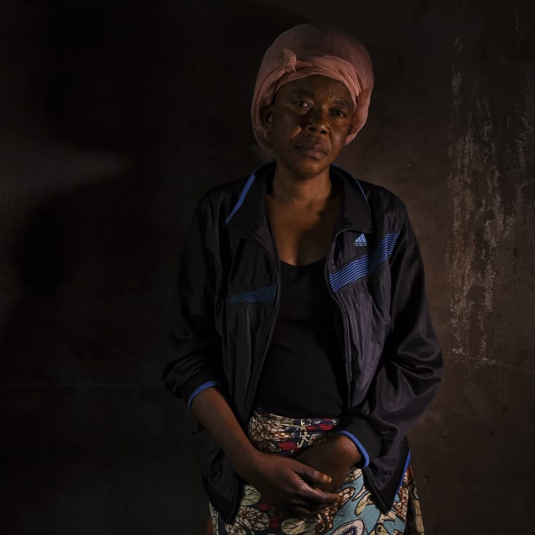 Helene Ntumba, 49, was held for three months before she managed to escape.
