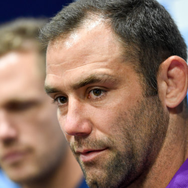 Lone burden: A lot rides on Melbourne Storm captain Cameron Smith in the absence of Billy Slater.