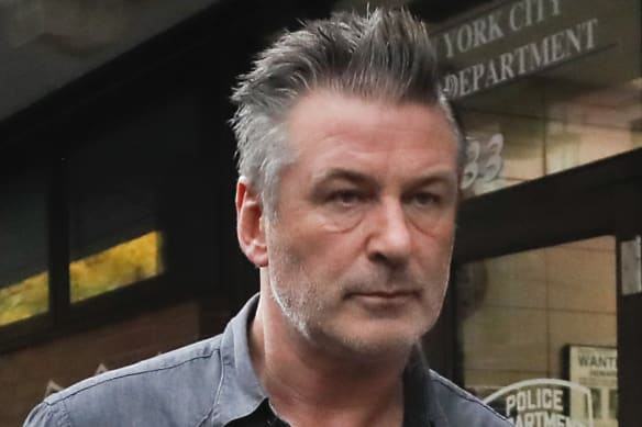 Alec Baldwin walking out of a New York Police Department on November 2 after he was arrested for the altercation with the man.