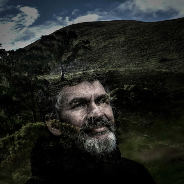 Gunditjmarra man John Clarke at Mount Noorat.