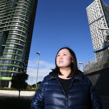 Opal Tower apartment owner Tina Tong says Olympic Park lacks basics such as supermarkets.