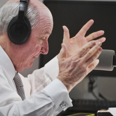 Alan Jones on air on Tuesday morning.