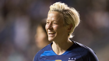 United States Captain Megan Rapinoe.