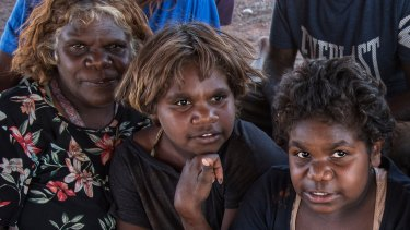 Travellers from Tjutjuntara camp on the outskirts of Kalgoorlie-Boulder.