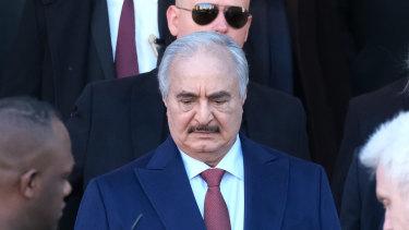 Libyan Field Marshall Khalifa Haftar was in Berlin in January for talks.