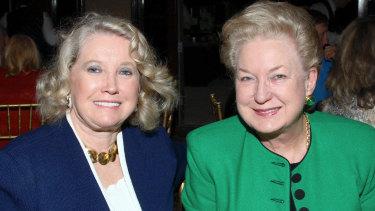 Elizabeth Trump Grau and Maryanne Trump Barry, who has retired as a judge.