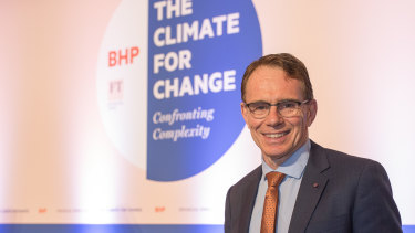 Andrew Mackenzie, CEO of BHP, pictured in London on Tuesday.