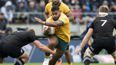 Taniela Tupou was one of the Wallabies' best in the first Bledisloe Test.