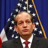 Alexander Acosta, US Secretary of Labour, held a media conference to defend his role in the Epstein case on July 10, 2019. He later resigned from the Trump administration.