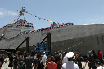 One of Austal's littoral combat ships, built in the United States.