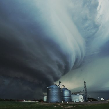 A tornado being called the Imperial Mothership, in Imperial, Nebraska this week.
