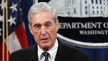 Special Counsel Robert Mueller breaks his silence on the Russia probe at the US Department of Justice last week.