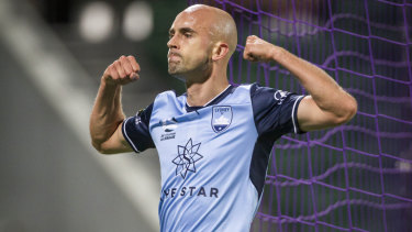 Departure: Johnny Warren Medallist Adrian Mierzejewski has left Sydney FC after just one year with the club.