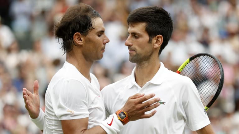 Still on top: Novak Djokovic (right) and Rafael Nadal will end the year No.1 and No.2 respectively.