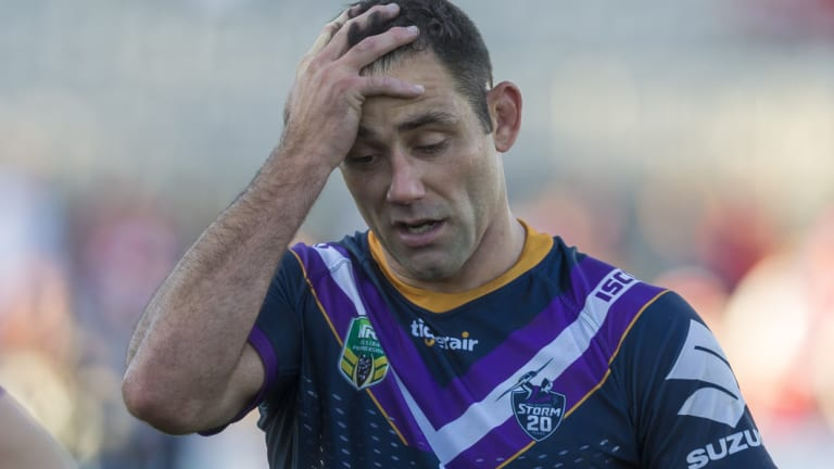 Not happy: Cameron Smith has been suspended for one match for his tackle on Kevin Proctor.