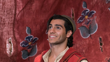 Mena Massoud as the title character in Disney's live-action Aladdin.