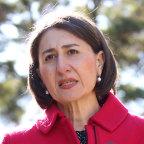 Premier Gladys Berejiklian announcing the border closure on Monday.