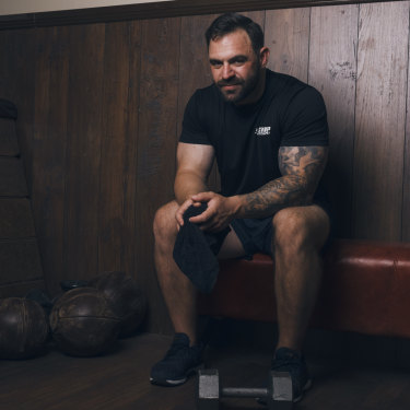 "Personal trainer James Blatch hopes that sharing his story will help others. ""I came from such a great family,"" he says. ""But I was attracted to people I was a bit fearful of."""