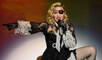 Madonna performs on stage during the Billboard Music Awards in May.
