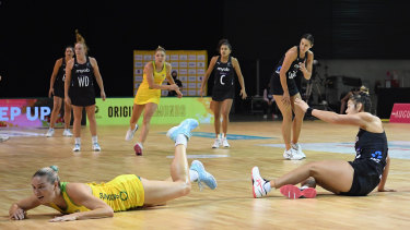 The Diamonds were clinical in their first half but became exhausted after the first thirty minutes of the game.