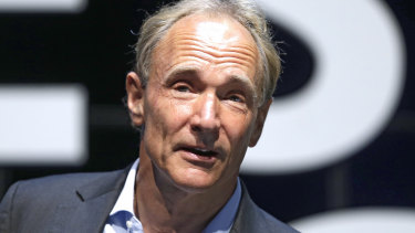 English computer scientist Sir Tim Berners-Lee, best known as the inventor of the World Wide Web, in 2015.