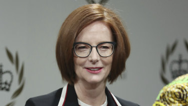 """Former prime minister Julia Gillard said the IBA report was a """"clarion call for urgent action""""."""
