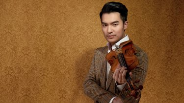 """""""It's almost like the instrument is another part of his body,"""" Queensland Symphony Orchestra's Tim Matthies said of Ray Chen (pictured) ahead of the 2020 season program reveal."""