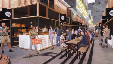 Artists' impressions of the Origins Market in Busselton.
