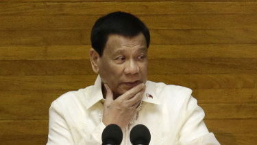 Philippine President Rodrigo Duterte.