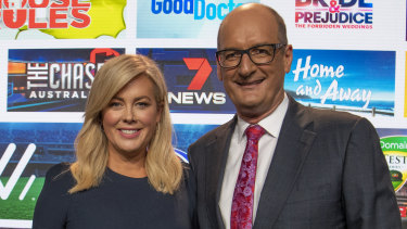 Sunrise hosts Samantha Armytage and David Koch.