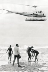 The search for Prime Minister Harold Holt at Cheviot Beach, 1967.