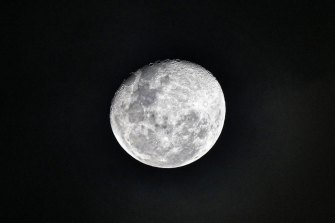 Ice-rich areas are located near the moon's north and south poles, scientists say.