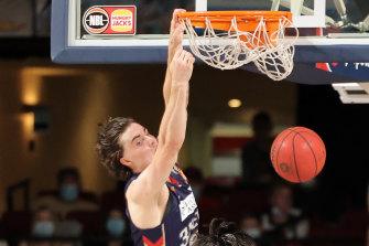 Slam dunk: Josh Giddey.