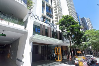 The Four Points by Sheraton hotel on Mary Street in Brisbane CBD.