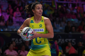 Ash Brazill has been named in the Diamonds' team for the Constellation Cup.