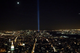 The tribute lights can be seen from right across New York City.