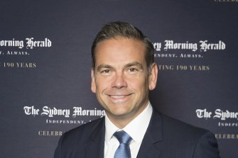 Lachlan Murdoch at <i>The Sydney Morning Herald</i>'s 190th birthday party earlier this year.