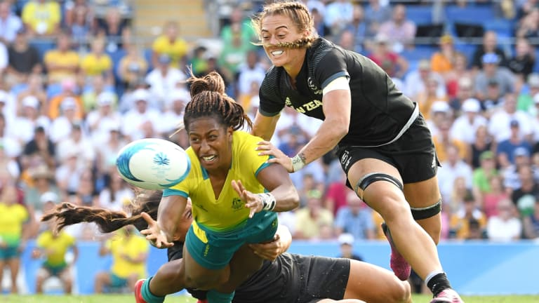 Close: Australia's Ellia Green in action against New Zealand in the Commonwealth Games gold medal match.