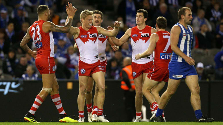 Isaac Heeney was part of the young brigade who stepped up for the Swans.