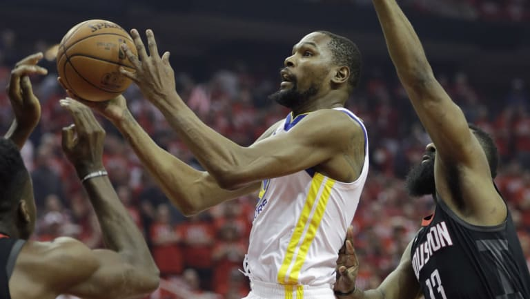 Kevin Durant in action in game one.
