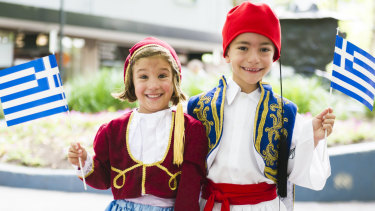 Karissa Frilingos, 6, and Sideri Pashalidis, 7, are among the youngest performers at this year's National Multicultural Festival.
