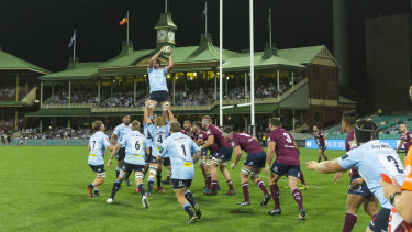 Iconic venue: The Waratahs win a lineout with the SCG's heritage stands providing a boutique backdrop.