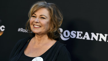 Roseanne Barr in March last year.