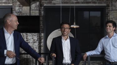 Afterpay co-founders David Hancock, Anthony Eisen and Nick Molnar.