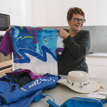 Dianne Roberts has kept most of her memorabilia from the 2000 Olympics, where she volunteered at the Olympic village.