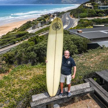 Howard Hughes, who still surfs, got his first board aged 11.