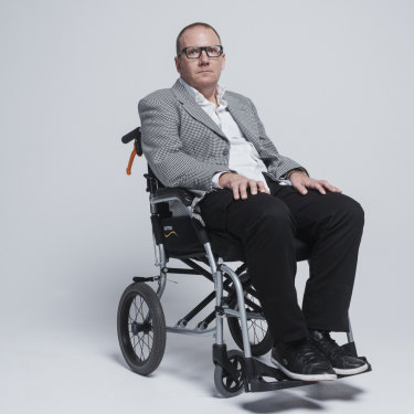 Before motor neurone disease struck him in his mid-40s, Peteris Ginters was a successful barrister, keen runner and cyclist.